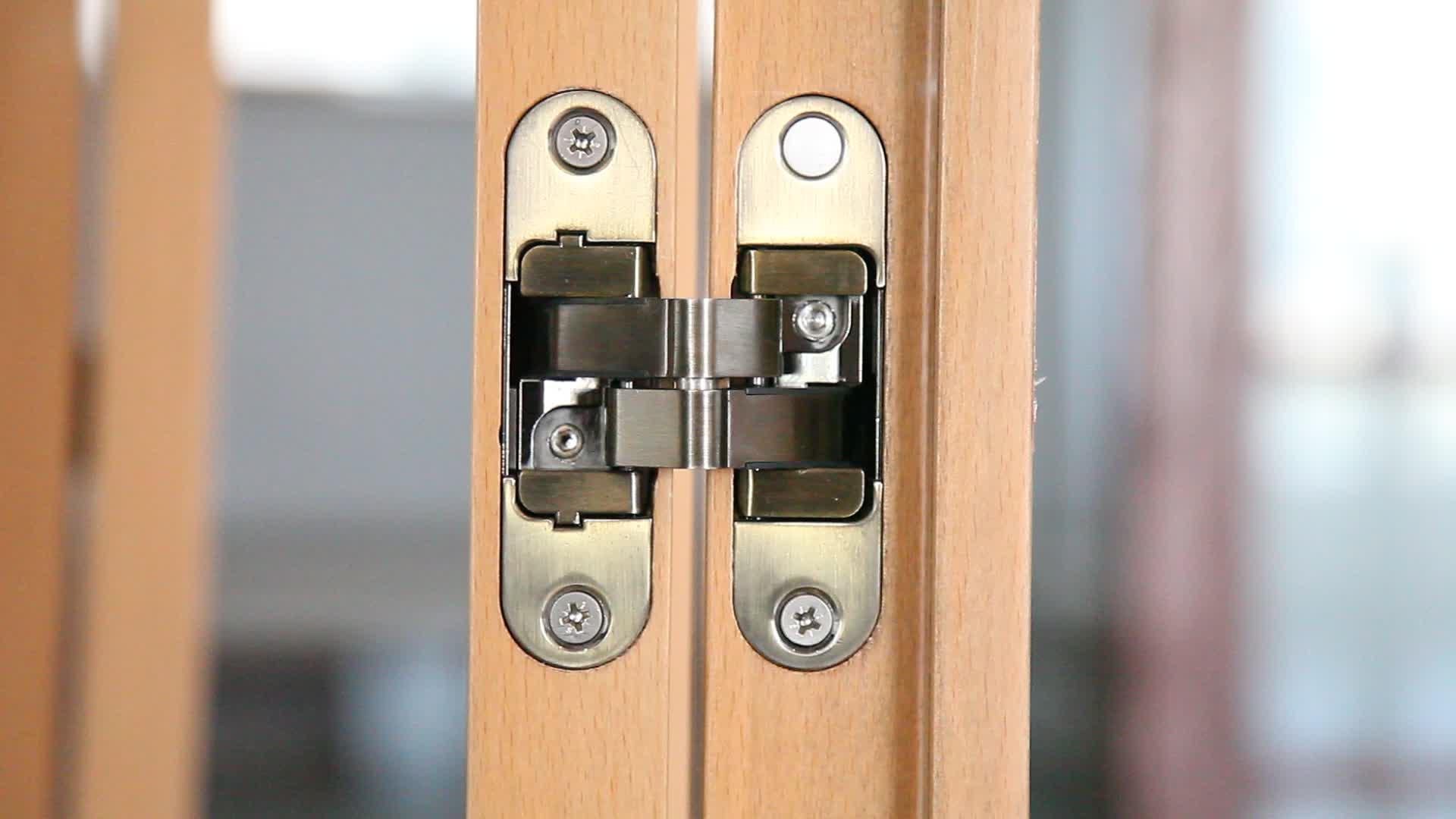 Zhaoxia High Quality 3-Way Adjustable Concealed Zinc Alloy Door Hinge