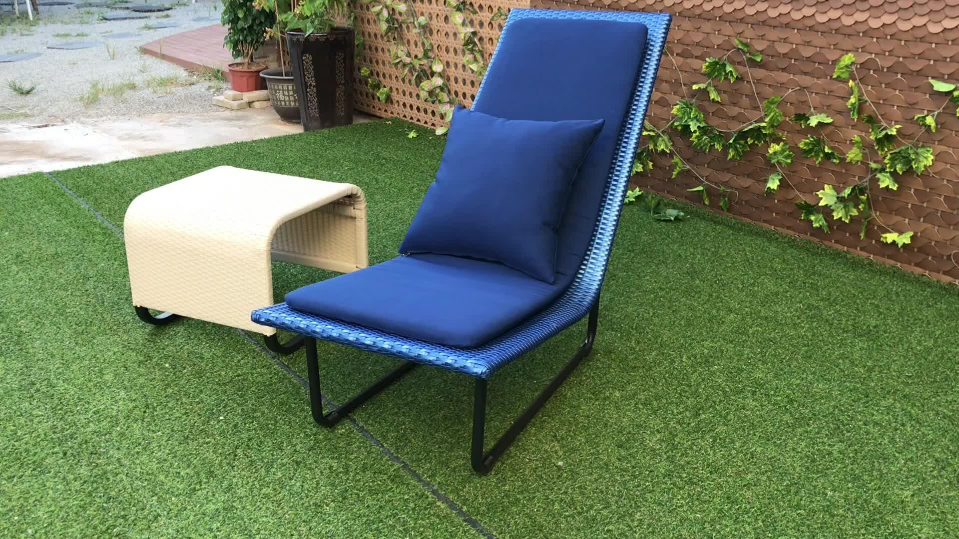 Garten rattan möbel terrasse stuhl set outdoor Stühle mit Kaffee Tisch Rattan Lounge-set