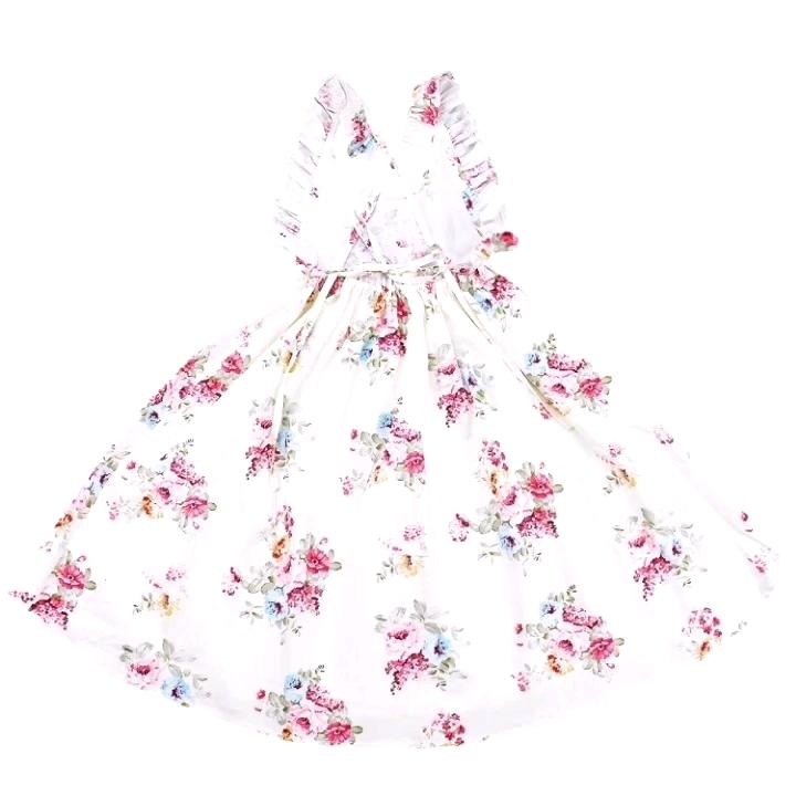 2019 ดอกไม้อีสเตอร์เด็กหญิง VINTAGE PARTY เด็กวัยหัดเดินฝ้าย Sundress