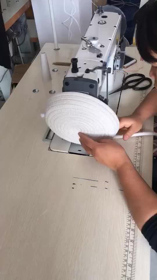 551-10S Home Organizer Baumwollseil gewebt Wäschekorb mit Griffen