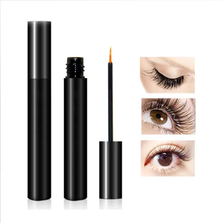 Custom Own Logo Lash Liquid Eye Extensions Cosmetics Eyelash Growth Serum Enhancer With Private Label