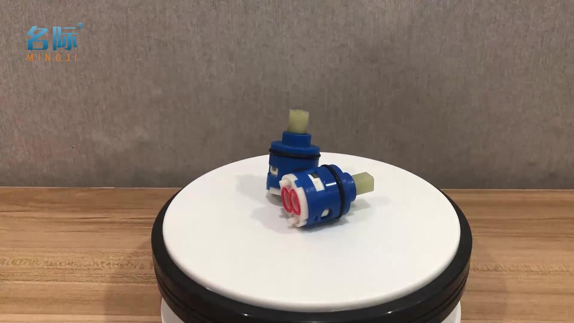 MINGJI 25mm 2Way Diverter Faucet Ceramic Cartridge with Plastic Lever