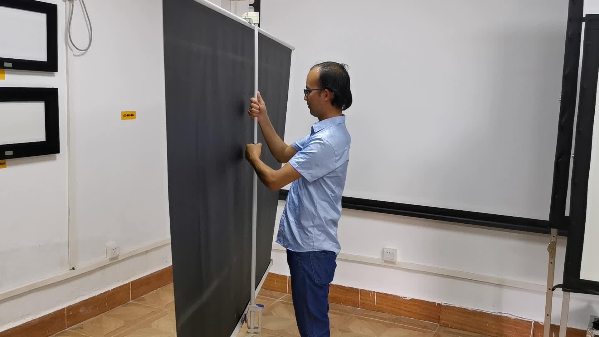 Xy Layar Bergerak dan Portable Tripod Screen Projector Berdiri untuk Menonton TV Peralatan Kantor Berdiri Ruangan Home Theater