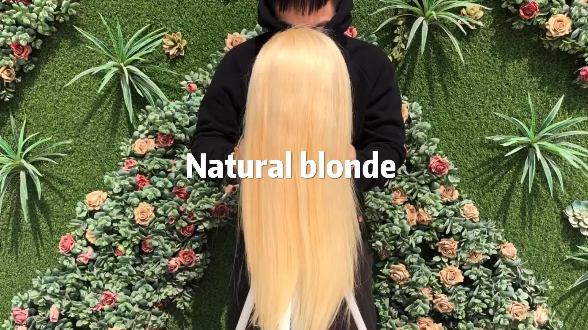 Perruque de cheveux humains XBL 613 pleine dentelle, perruque brésilienne 613 blonde pleine dentelle de cheveux humains, perruque de cheveux humains 40 pouces 613 vierge de cheveux humains pleine dentelle