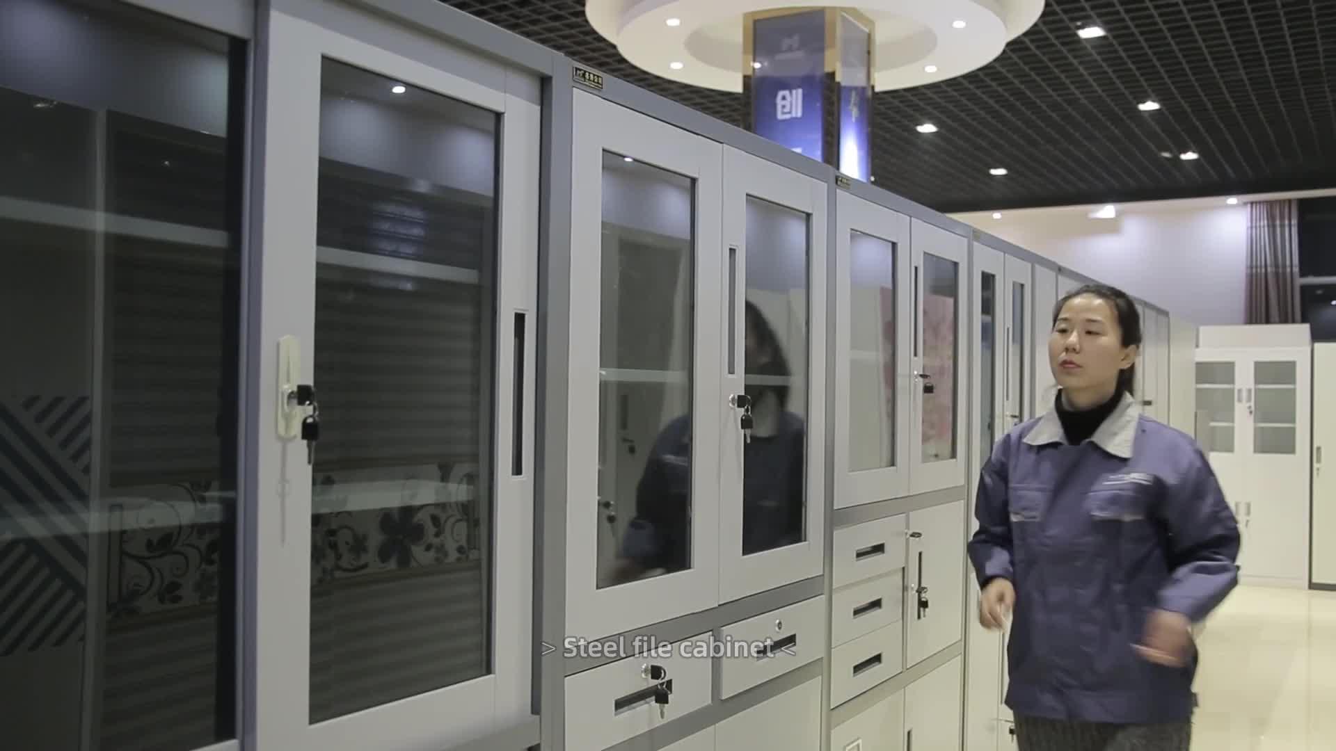 מפעל מחיר באיכות גבוהה פלדה משרד ריהוט תעשייתי מתכת אחסון ארונות/ארון שתי דלתות