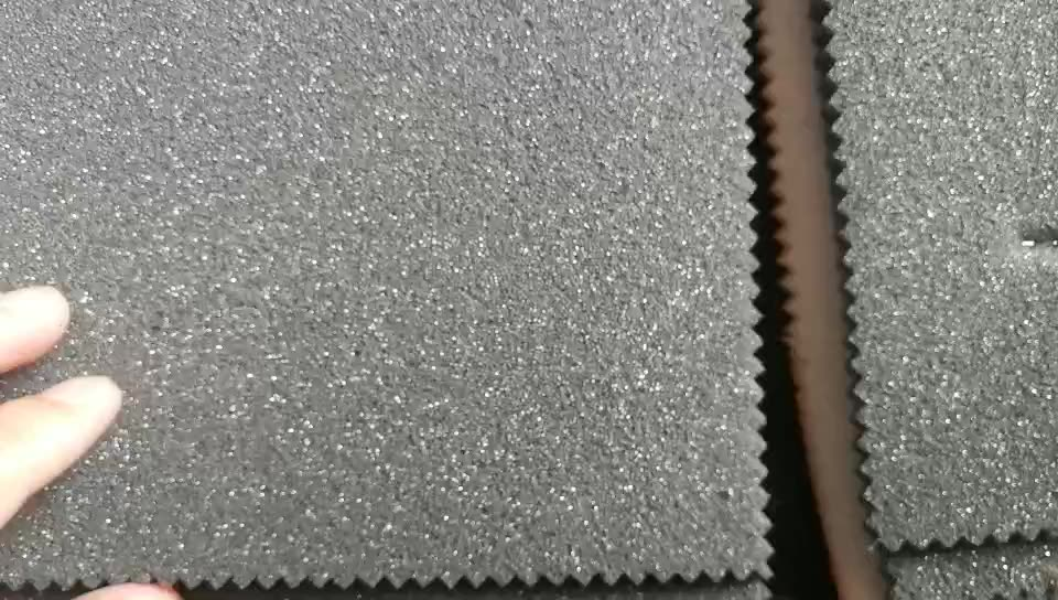 super soft suede  sponge with flame retardant fabric for car seat