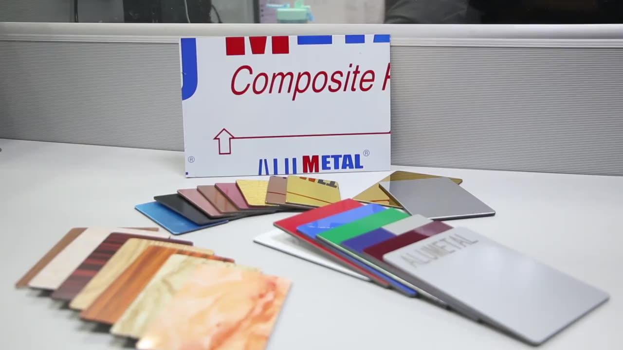 Side length 1.83mm-15mm wooden aluminum composite panel