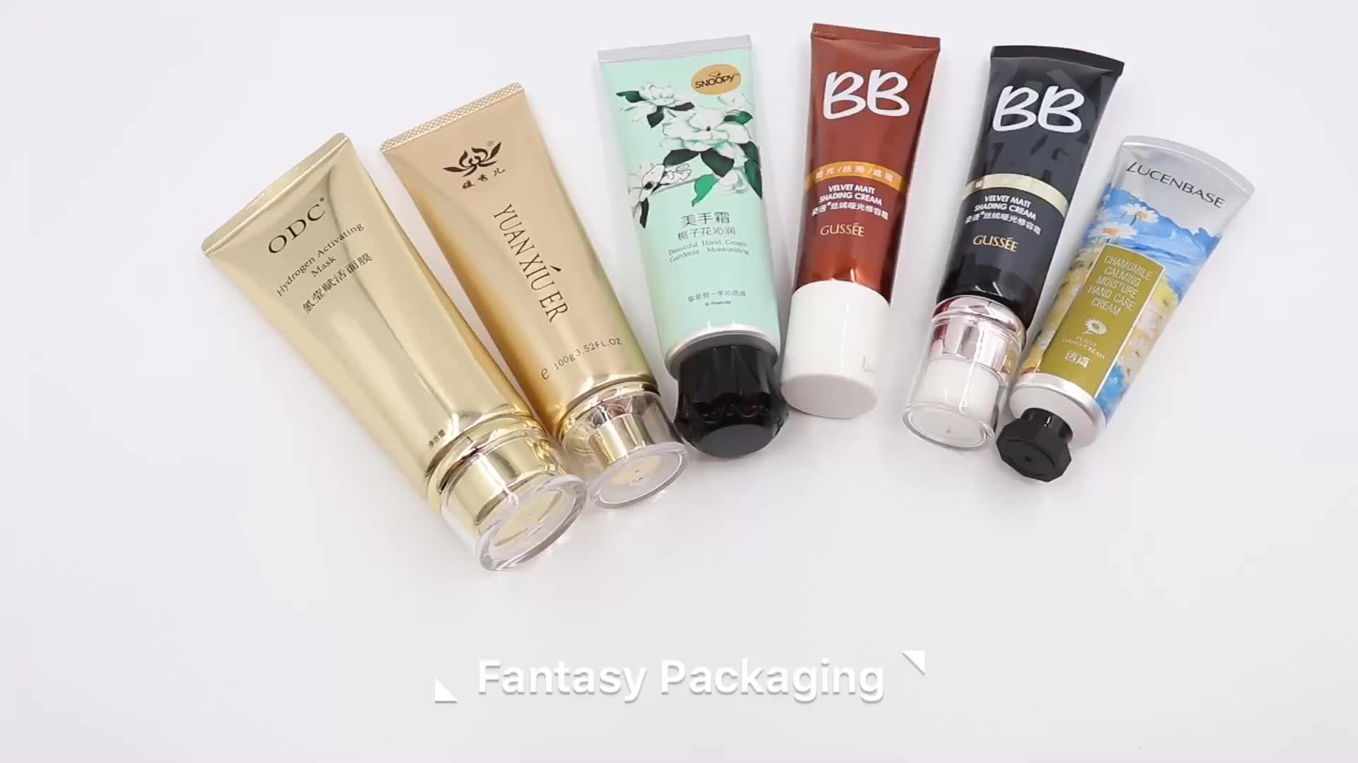 40ml 50ml 60ml cosmetic hand lotion tube soft plastic and aluminum laminated barrier tubes octagonal cap