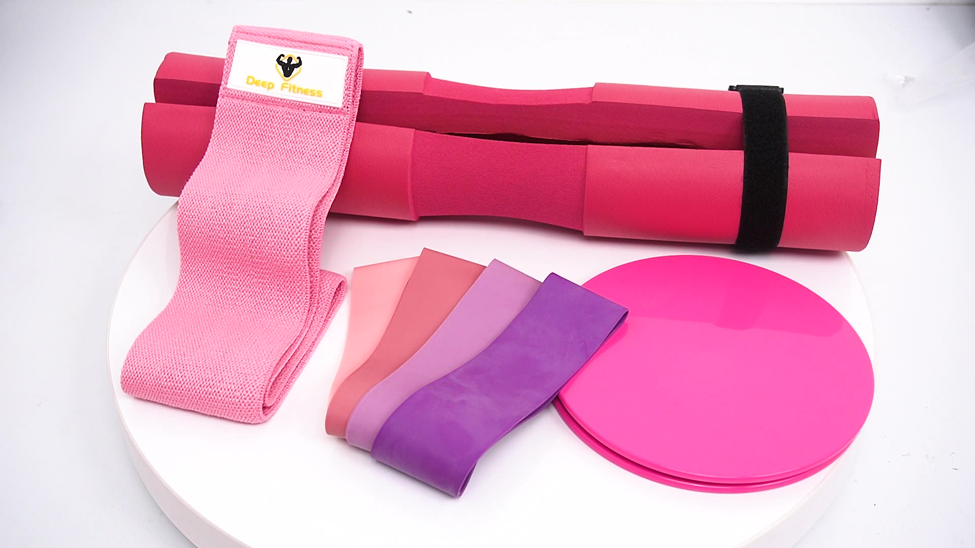 Custom printed Fabric exercise bands / Core Sliders Set Hip Circle band resistance Booty Bands