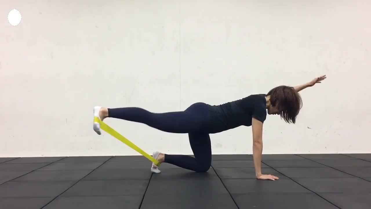 Gym fitness Custom printed logo Yoga Stretch Band Latex exercise mini loop band resistance band sets
