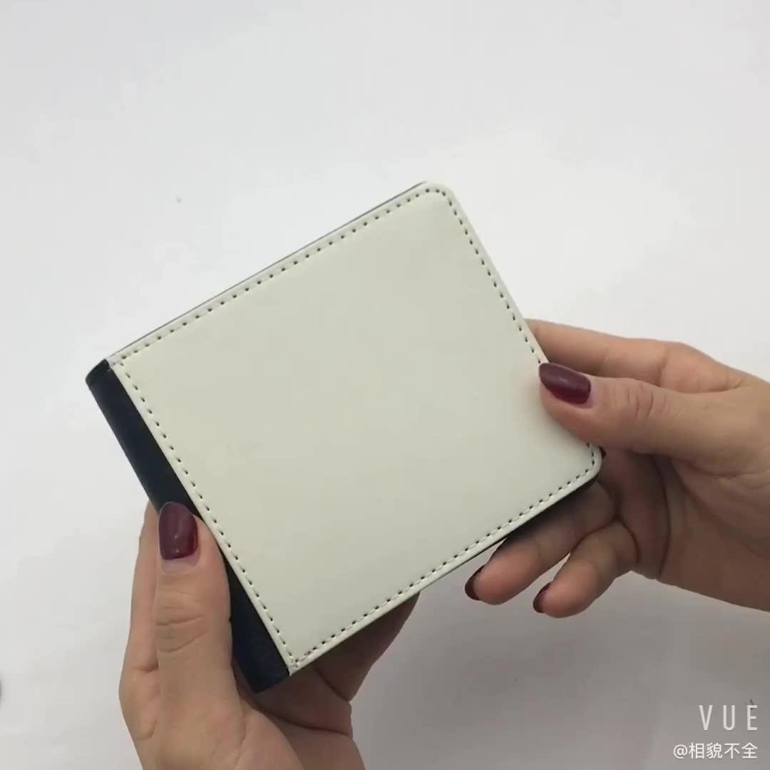 Fashion 2018 Blank Sublimation Print Men's Wallet, Custom Print Leather Wallet Men