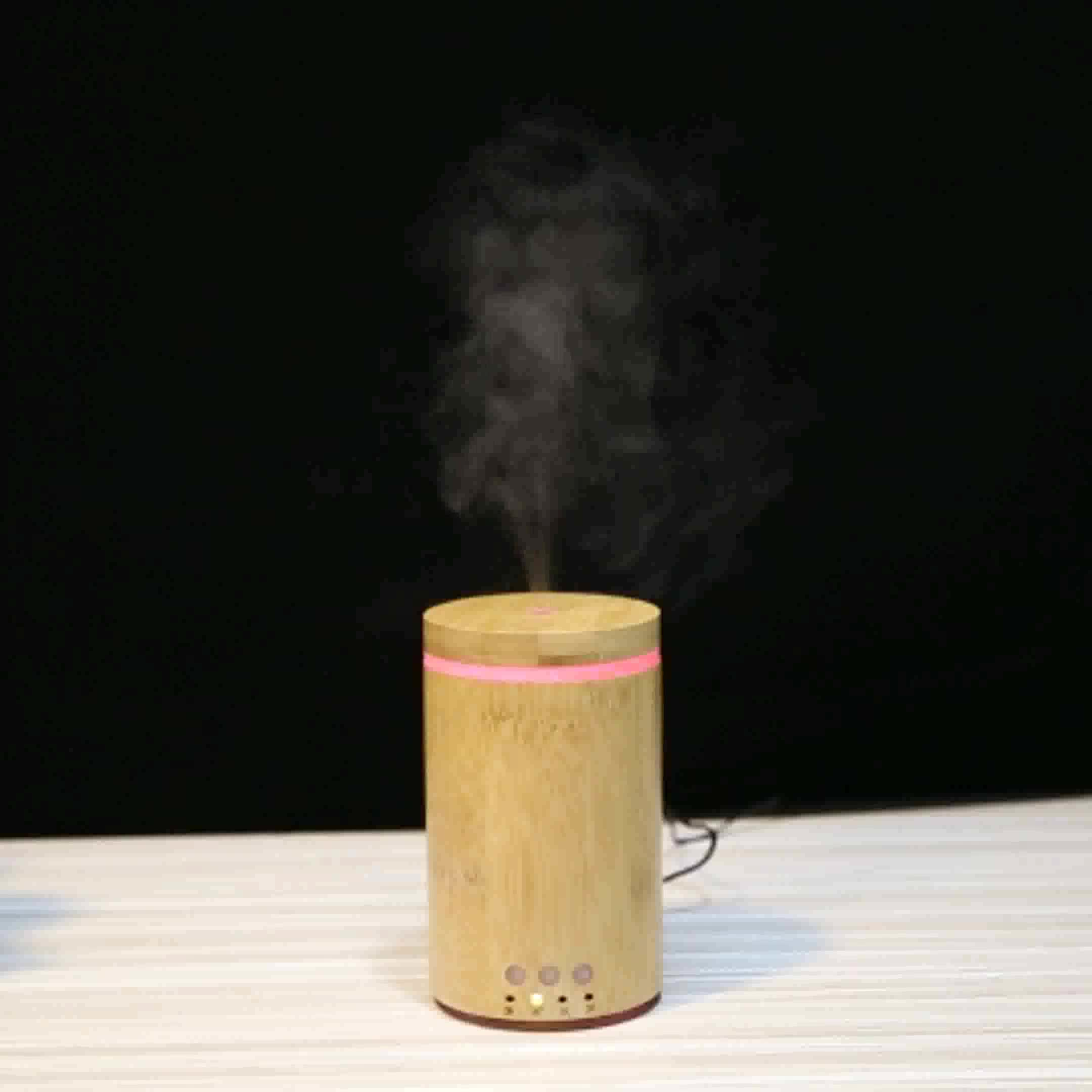 Bamboo essential oil aromatherapy diffuser