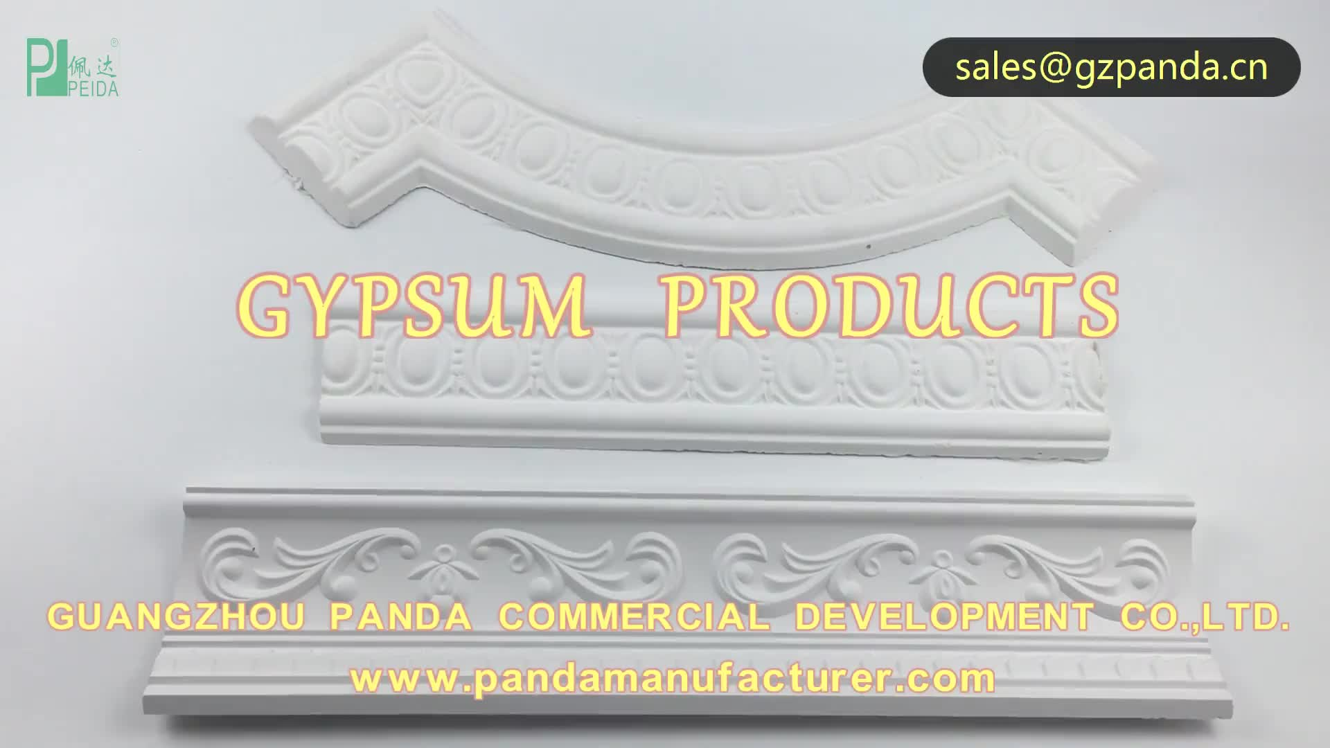 Pure White Natural Gypsum Cornice for Ceiling Decoration by L/C Payment