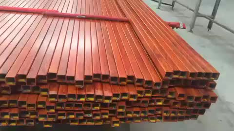 Colorful Wooden Grain Aluminum extrusion Hollow tube for Furnitures Decoration with optional colors