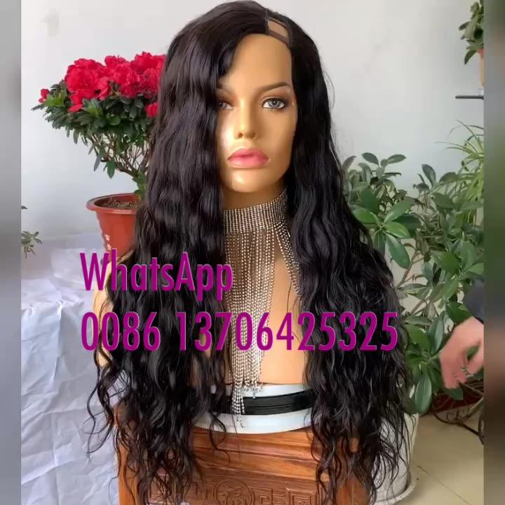 JOYWIGS 22inch 150% Human Hair U Part Wig Wave Style
