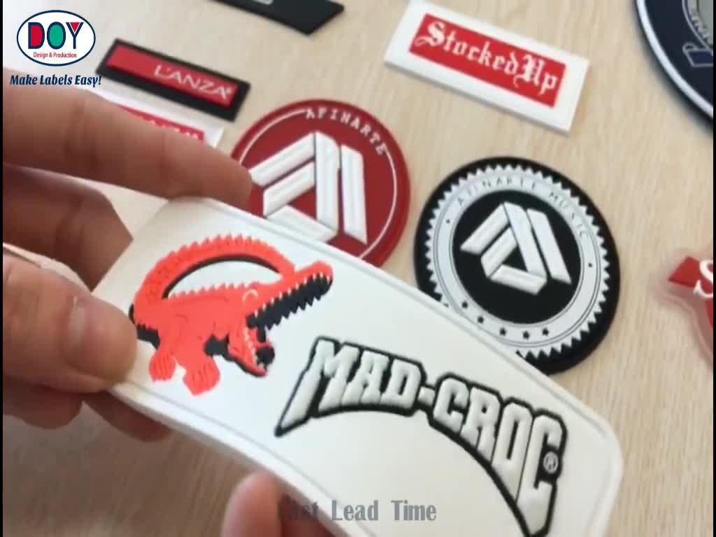 OEM Fabricante de Nome Personalizado 3D Logotipo PVC Macio de Borracha À Prova D' Água Etiquetas de Bagagem de Viagem com Fivela De Plástico