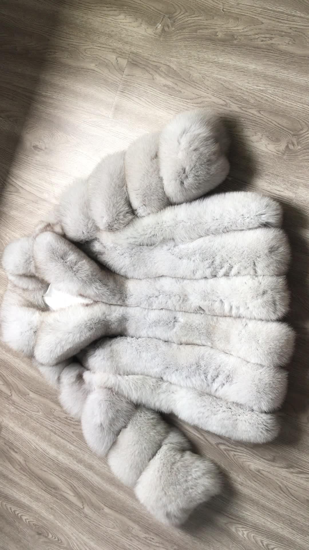 Donne inverno cappotto tutta la pelle vera pelliccia di volpe lungo di volpe naturale cappotto di pelliccia