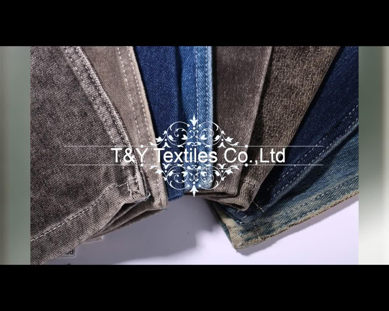 Zware gewicht knit denim jeans stof voor man broek broek