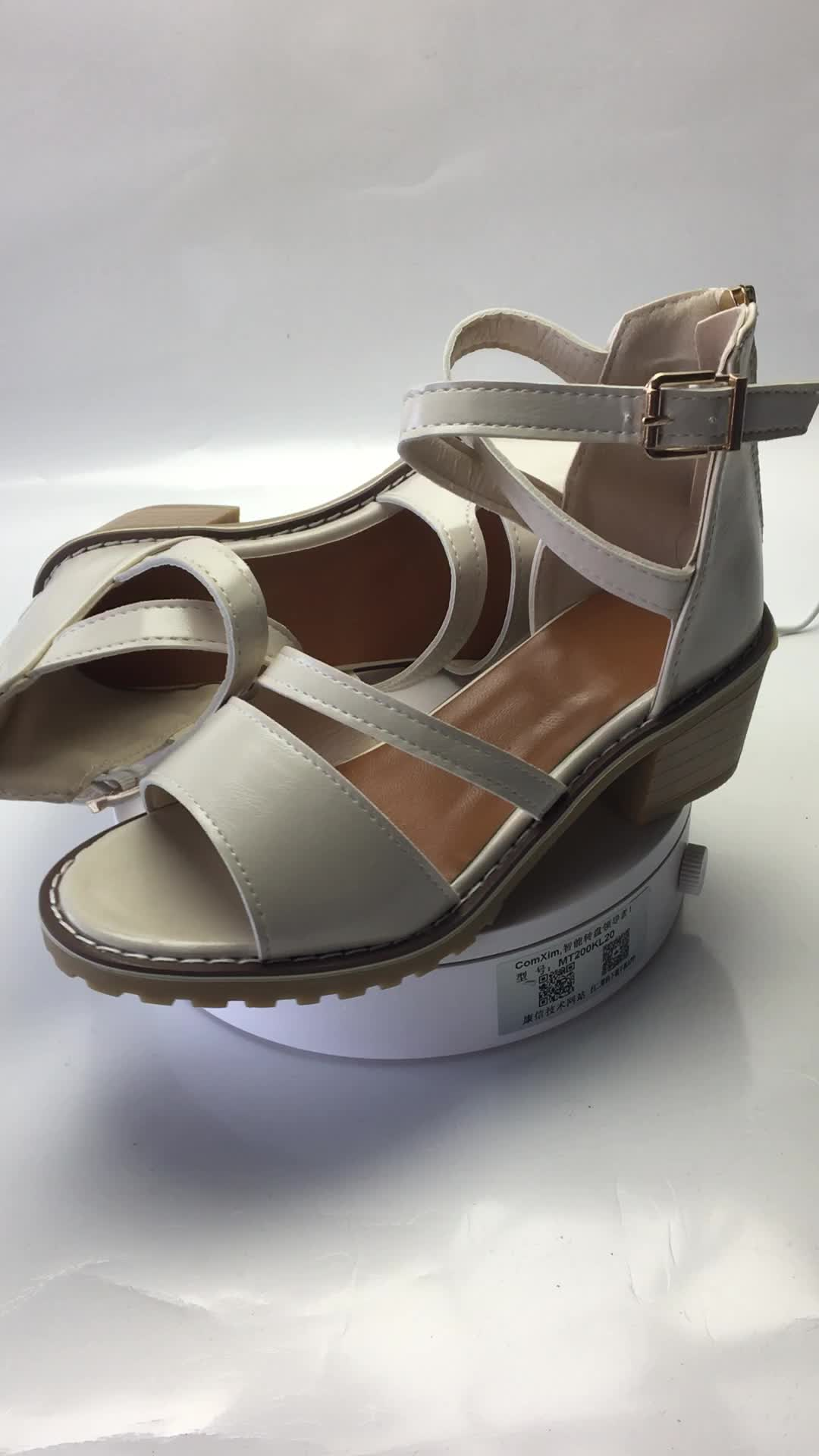 2018新款女式高跟凉鞋春夏季粗跟包根侧空鱼嘴女鞋搭扣一件代发潮
