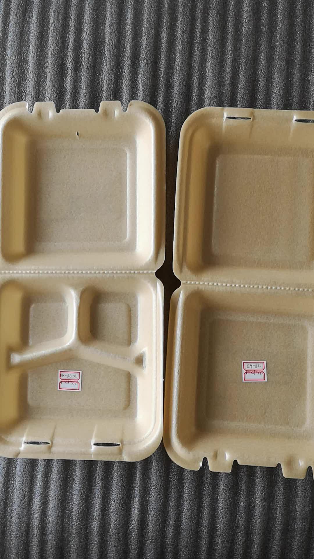 Кукурузный крахмал пены биоразлагаемые одноразовых пищевых контейнеров Box