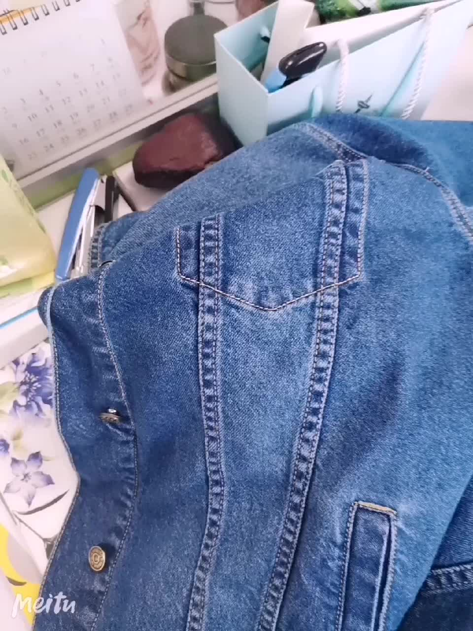 New arrival women's cheap denim jacket with removable  hood for spring women's jacket