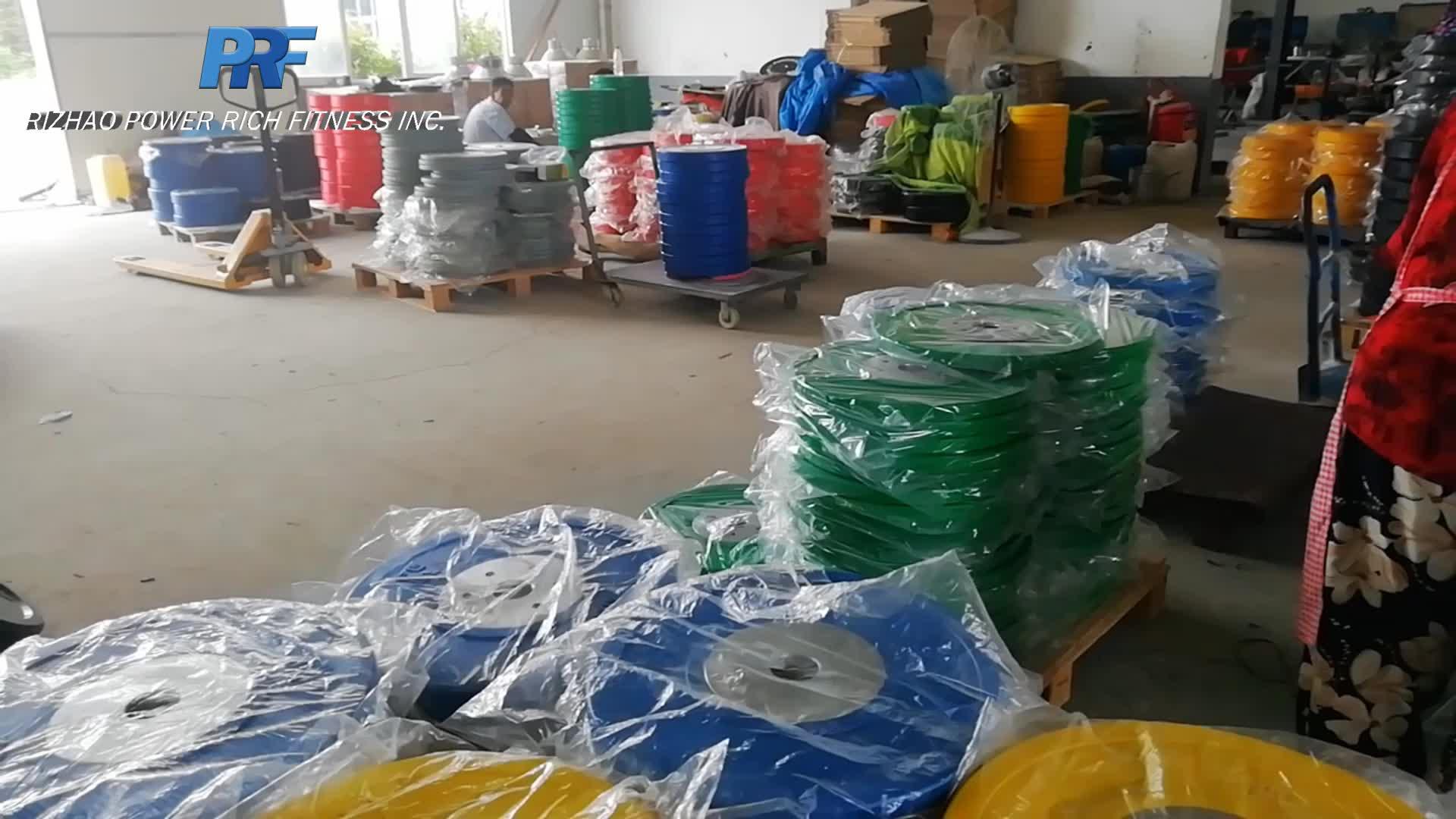 20kg solid rubber blue color premium power lifting bumper plate