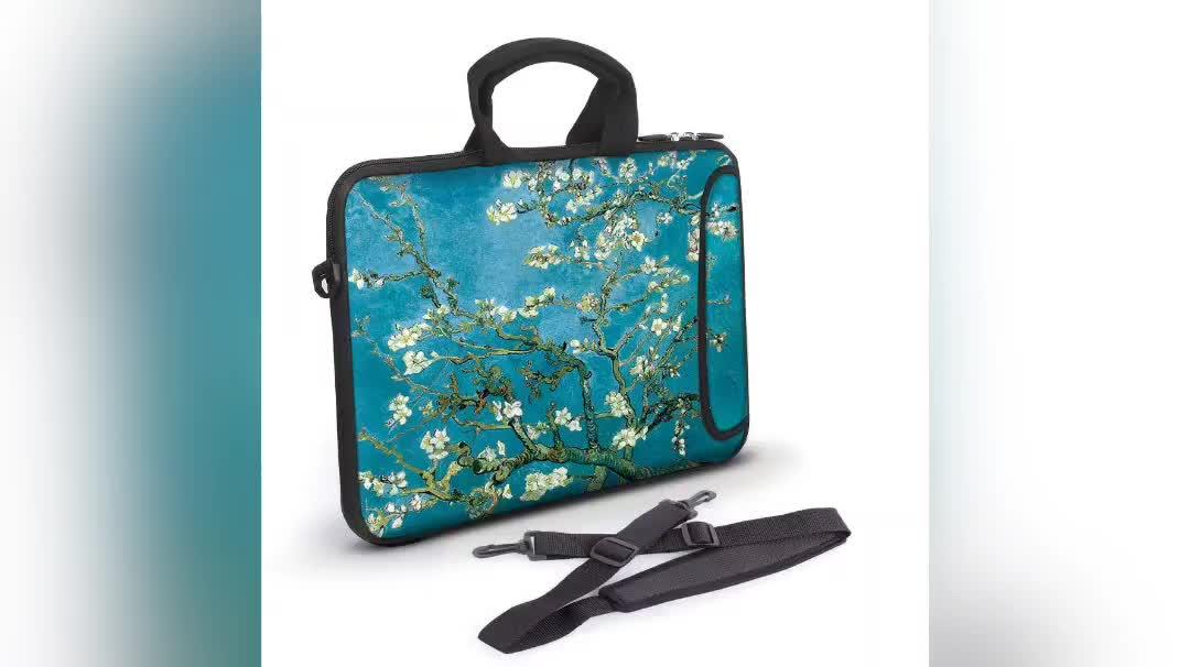 ऑनलाइन शॉपिंग भारत फैशन Neoprene लैपटॉप आस्तीन गोली आस्तीन लैपटॉप बैग के साथ 6-Multi उपयोगिता जेब