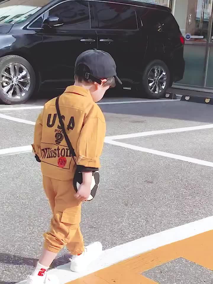 Boy Web คนดังสไตล์ต่างประเทศชุดสำหรับทารกเสื้อผ้าแฟชั่นฤดูใบไม้ร่วง 2019 เด็กใหม่แฟชั่นเด็กเกาหลีเสื้อผ้า