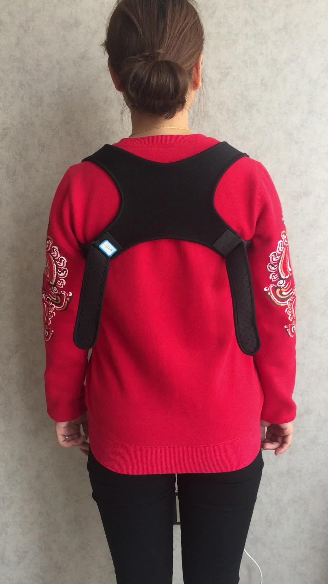 A parte traseira unisex e os ombros apoiam o corrector traseiro magnético da postura para a dor nas costas