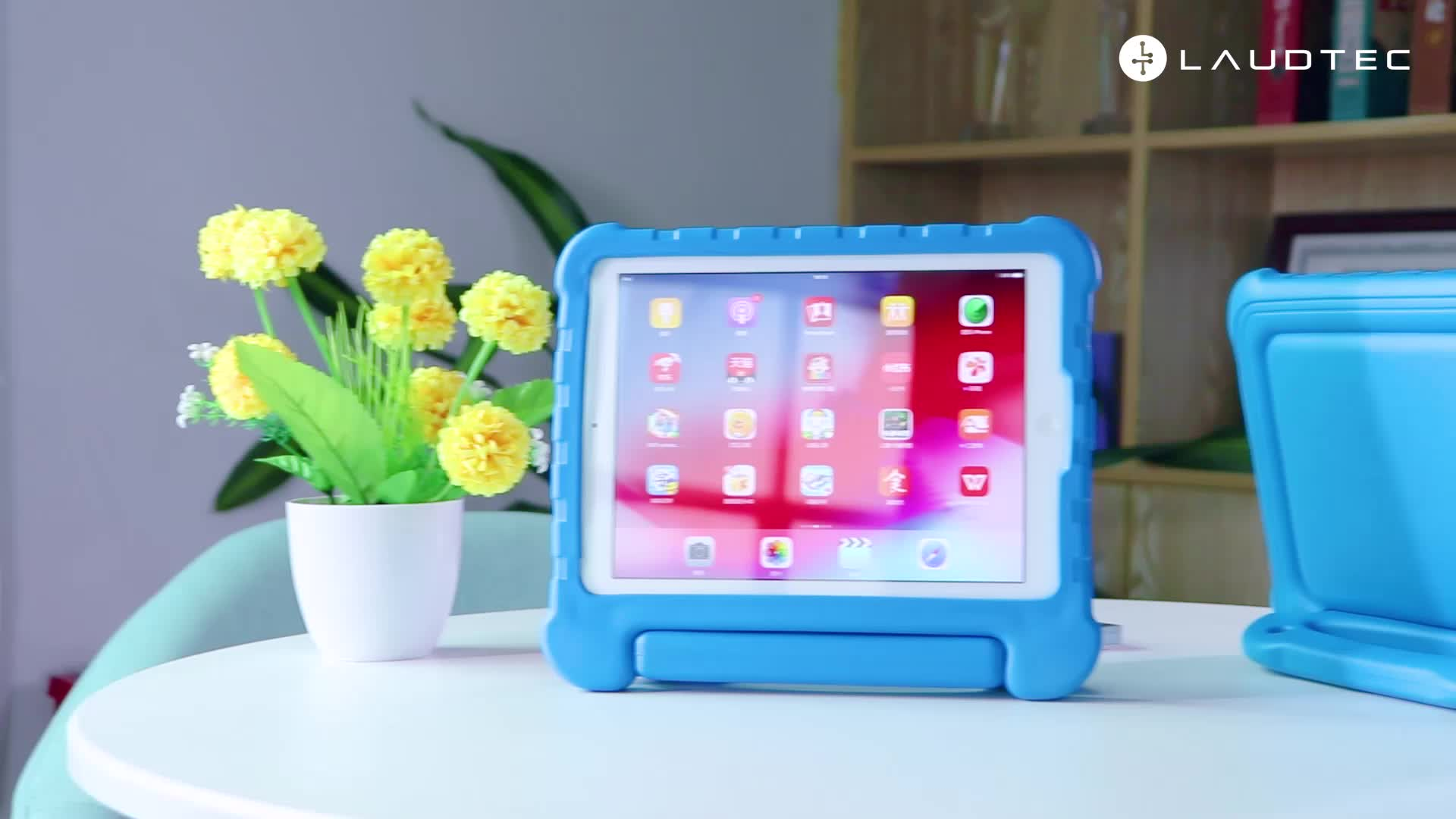 Friendly Kids Case For iPad 10.2 2019 Anti-shock Foam Tablet Case With Handle Stand