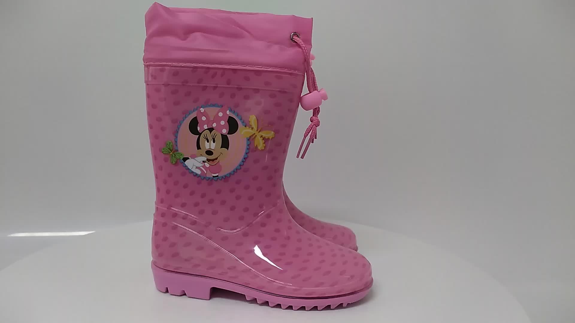 shiny yellow waterproof flat heels kids mature rain boots rain boots wholesale