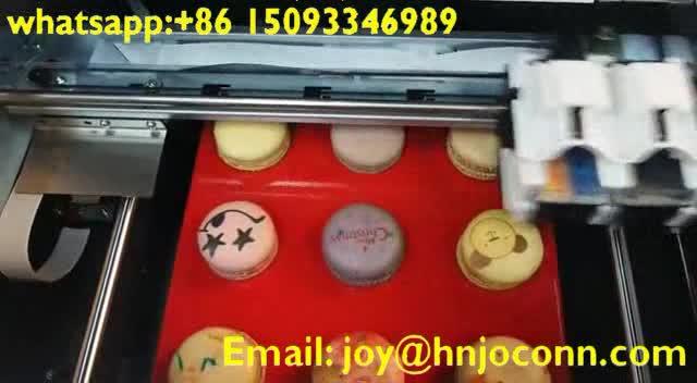 Impressora de tinta editável Macaroon cookie/bolo de Aniversário foto máquina de impressão/biscoitos selfie impressão máquina à venda quente
