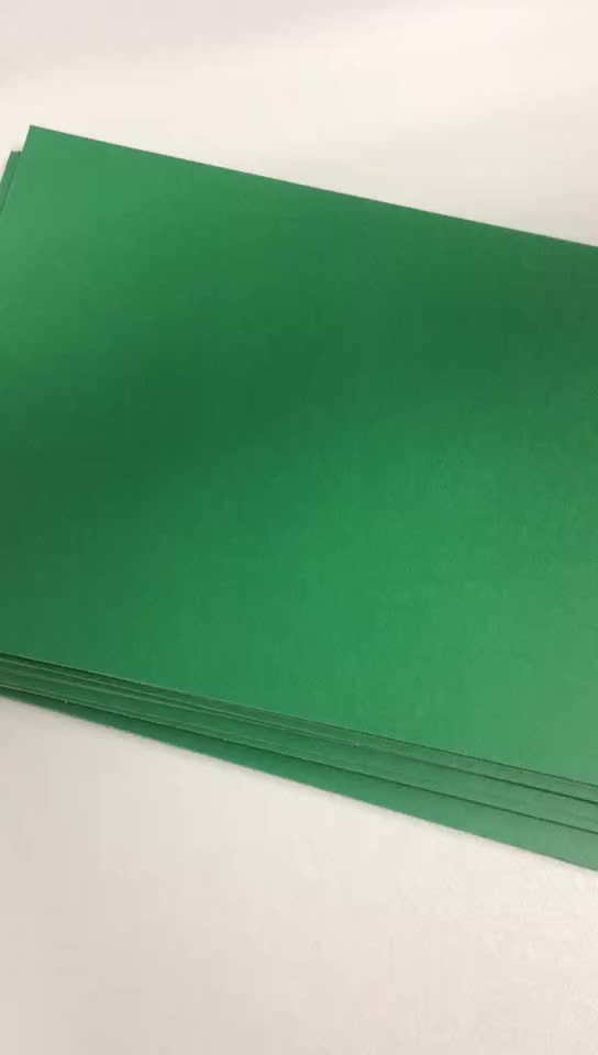 Popular Green Color 1.2MM Stiff Paperboard For Making  Lever Arch File