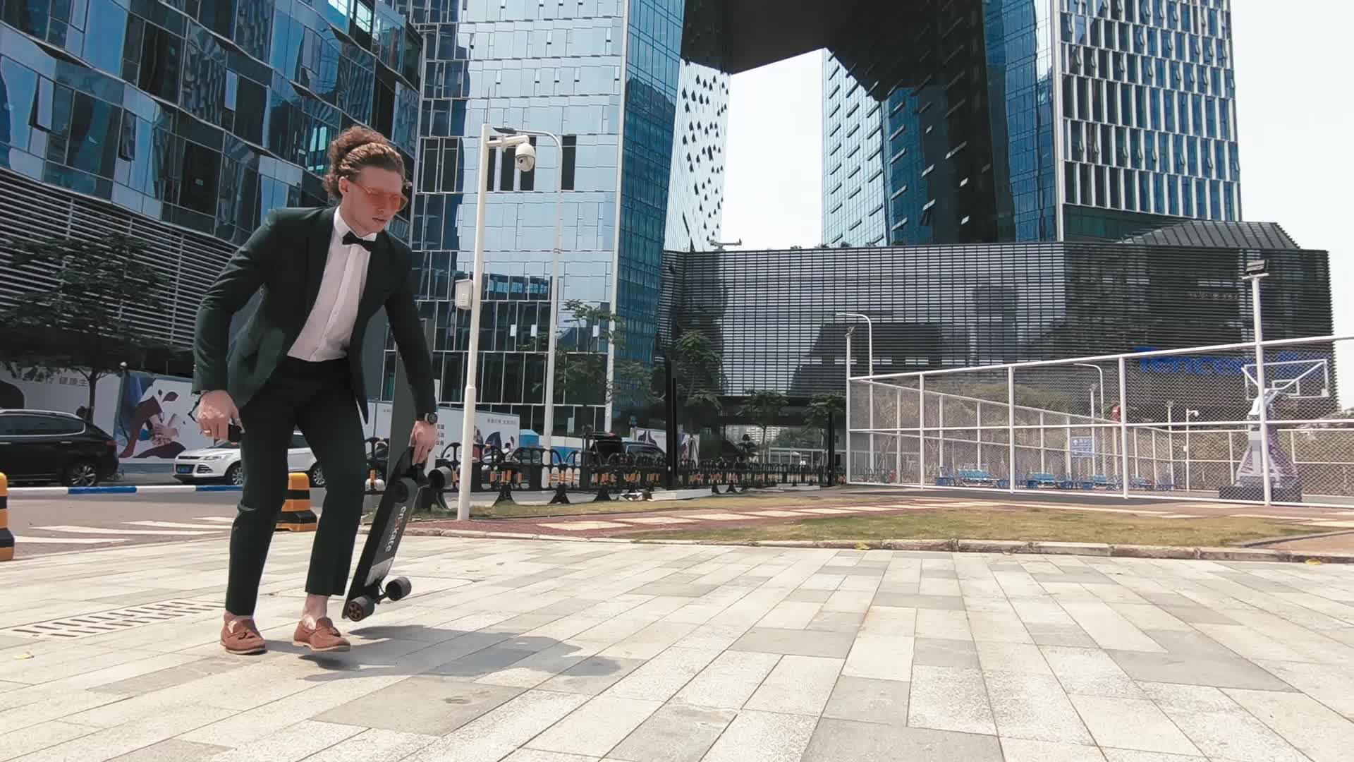 Enskate função controle remoto elétrico moda esporte skate longboard com AI 32 MPH