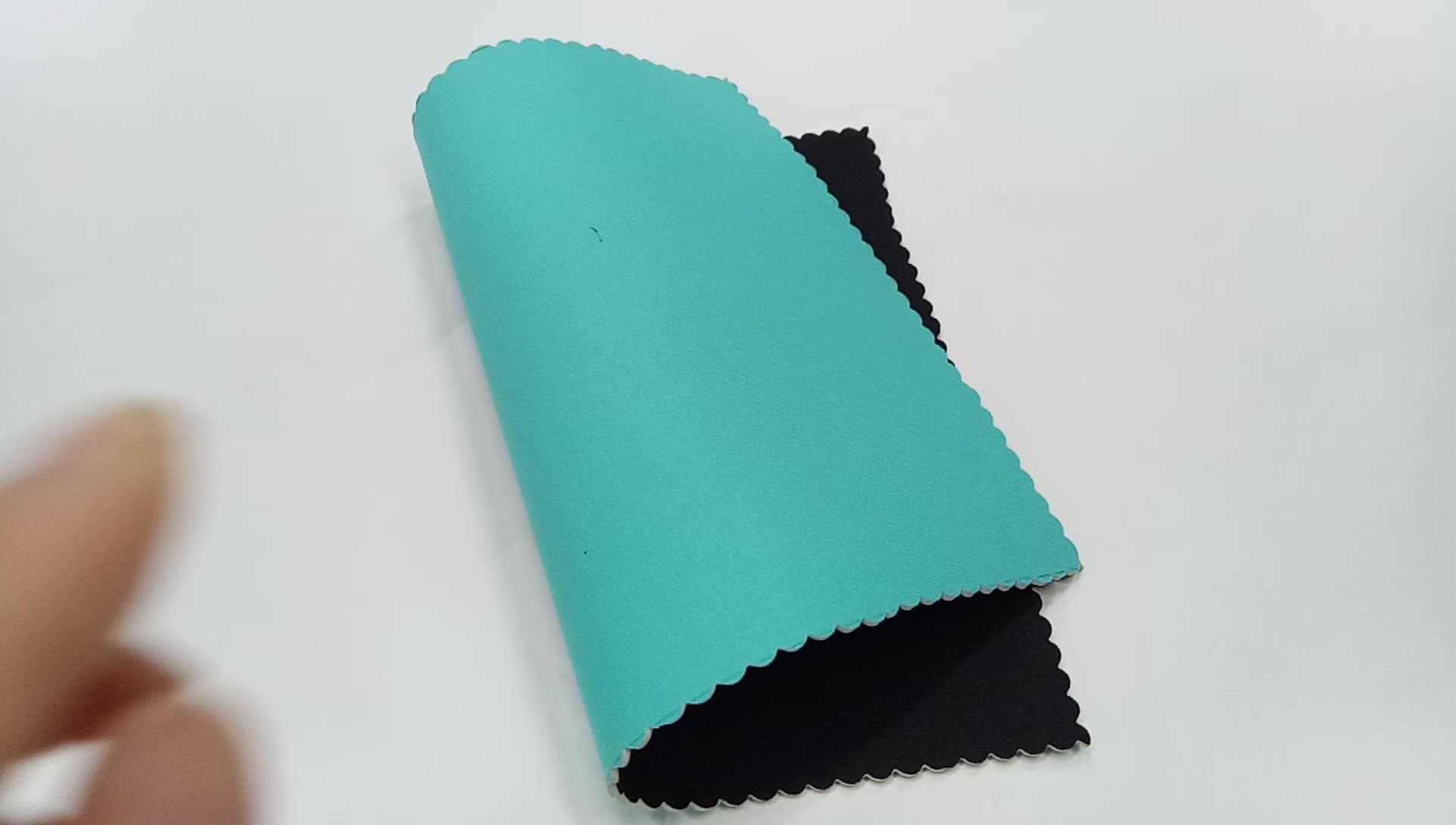Jianbo 2mm độ dày chất lượng cao neoprene dệt vải thân thiện với môi cao su tổng hợp vải quần áo bơi