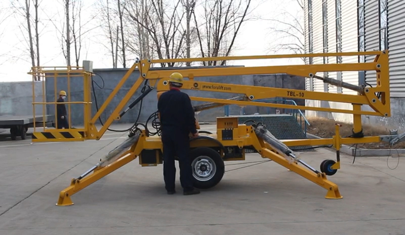 aerial working platform truck-mounted cherry picker for maintenance and repairing