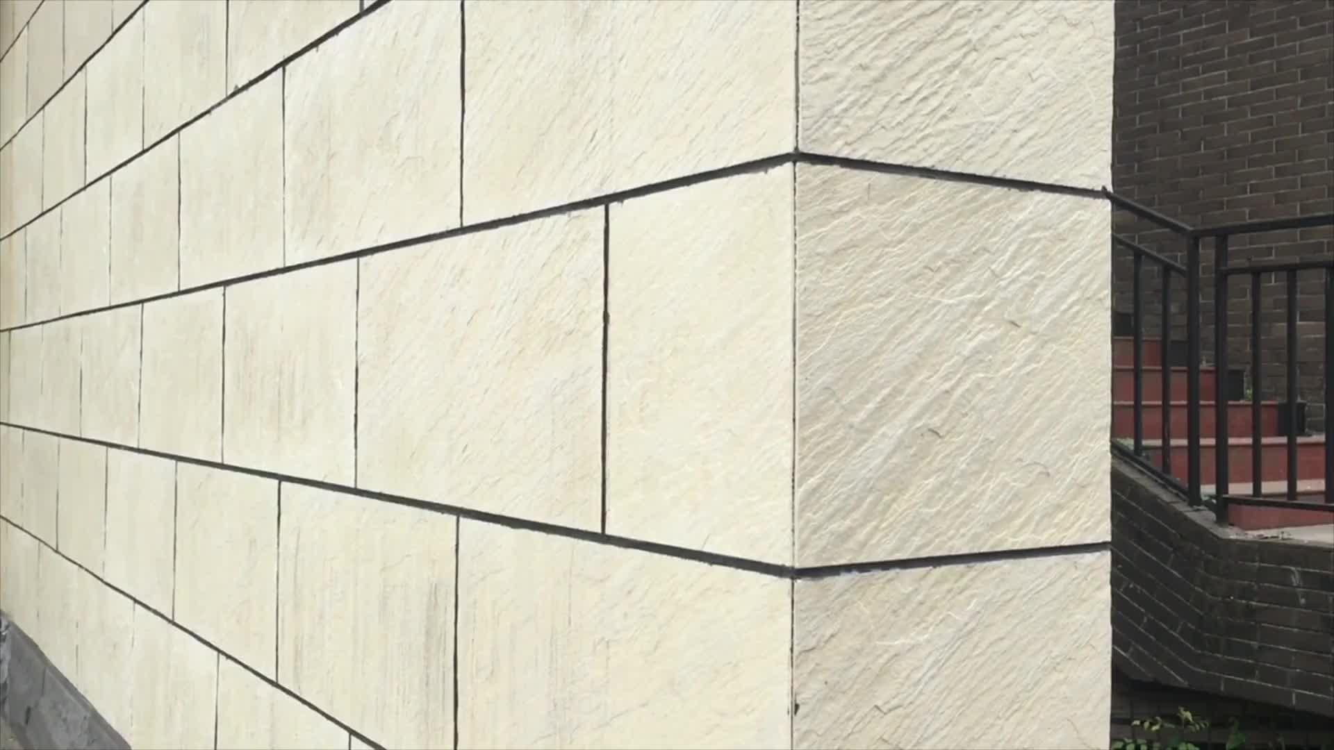 Condominium Exterior Black Flexible Thin Natural Stone Slate Tile Wall Cladding