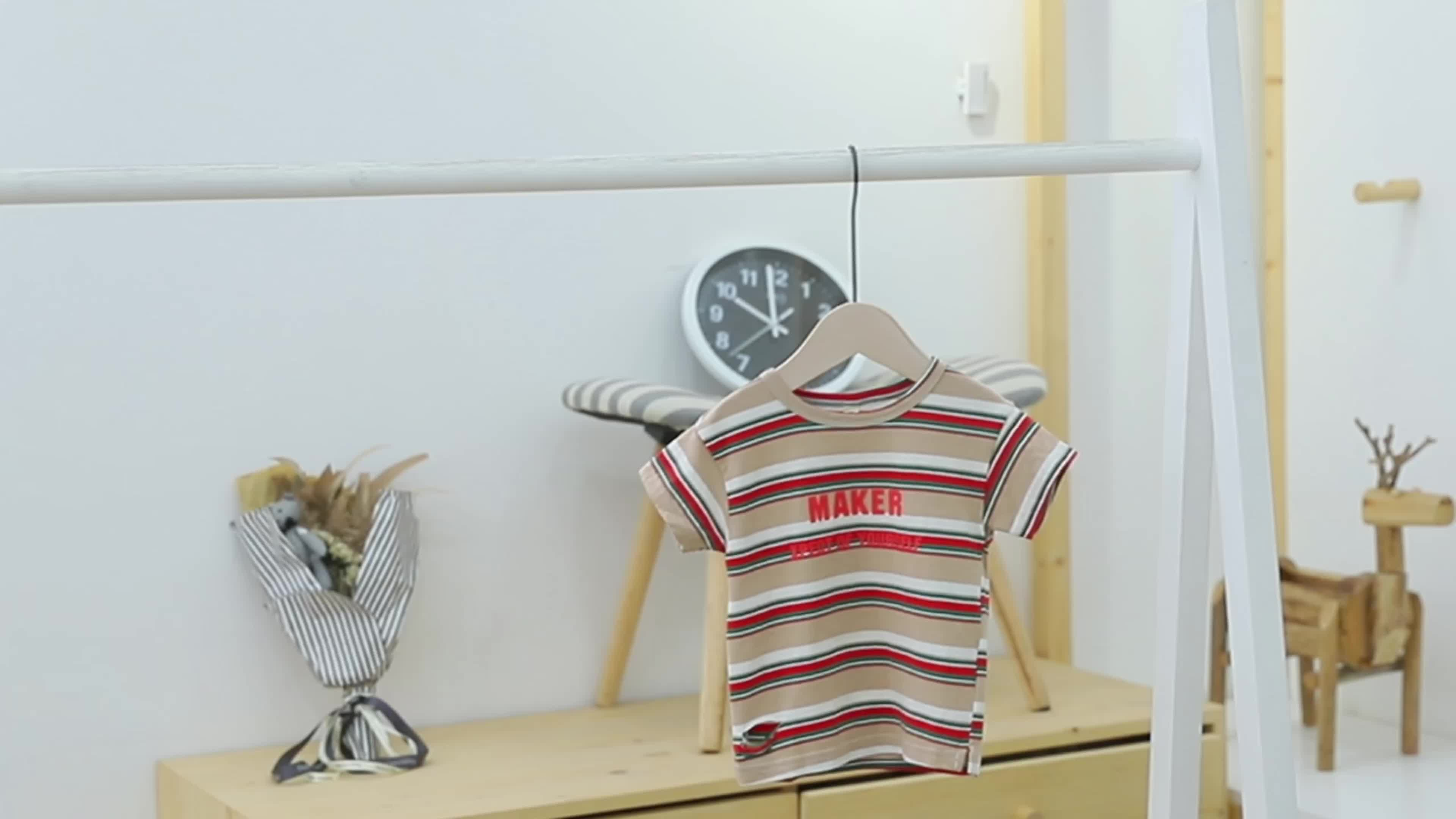 Promo Summer Short Sleeve high quality 100%cotton  kids  Baby Girl's  striped t-shirt