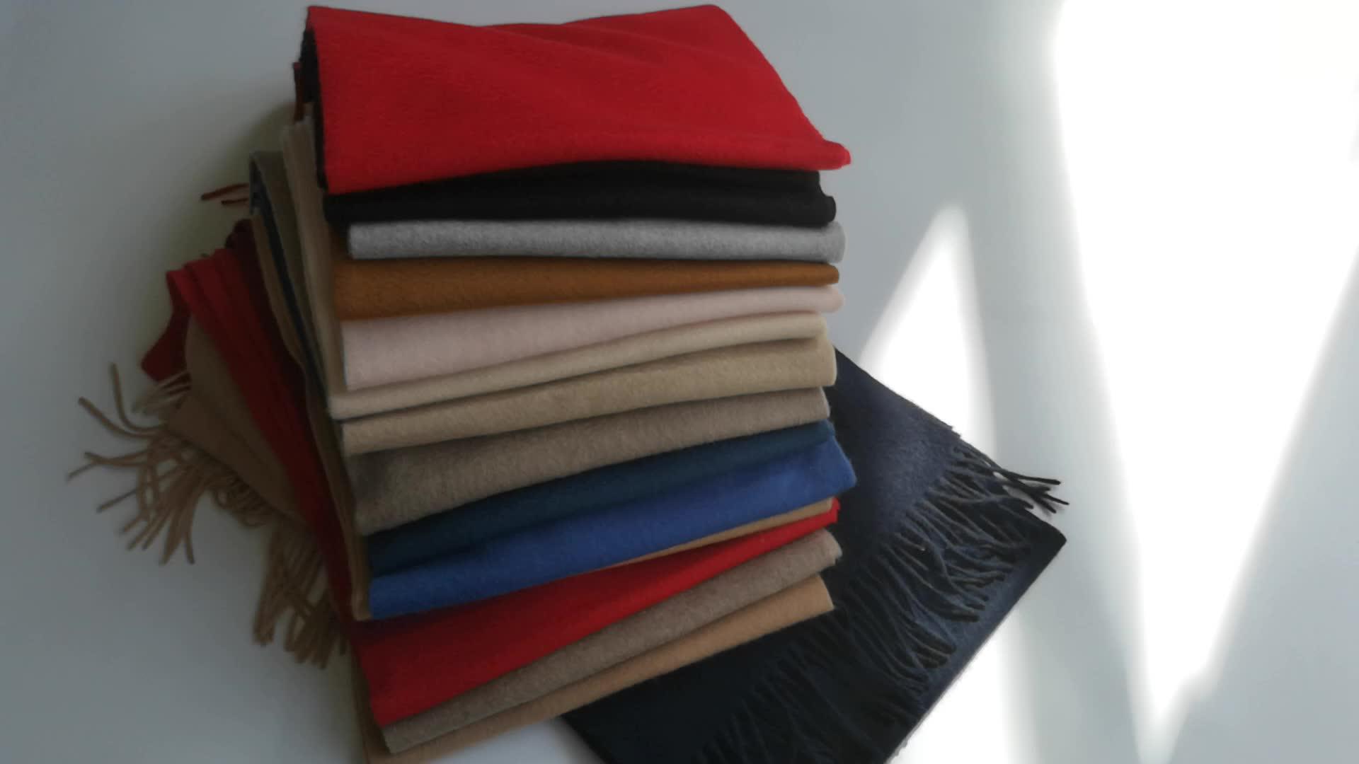 工場卸売ファッション 2 つの顔 2 トーン暖かい冬純粋なモンゴルパシュミナ 100% カシミヤスカーフ