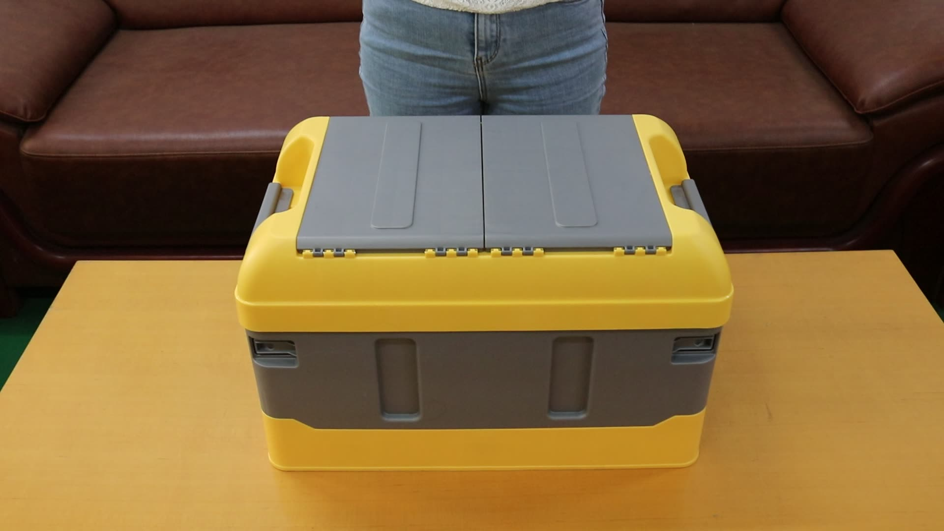 High Quality with Different Lids Heavy Duty Small Collapsible Stackable Folding Plastic Crates Plastic Boxes