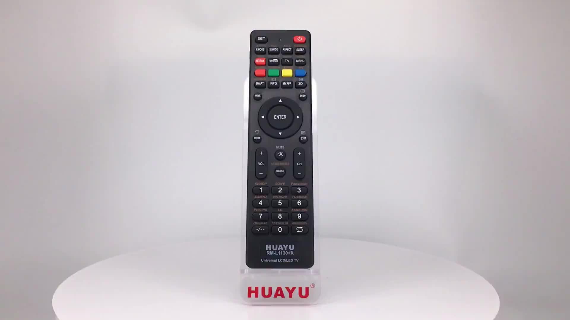 RM-L1130 + X HUAYU UNIVERSAL IR REMOTE kontrol TV TV KONTROL