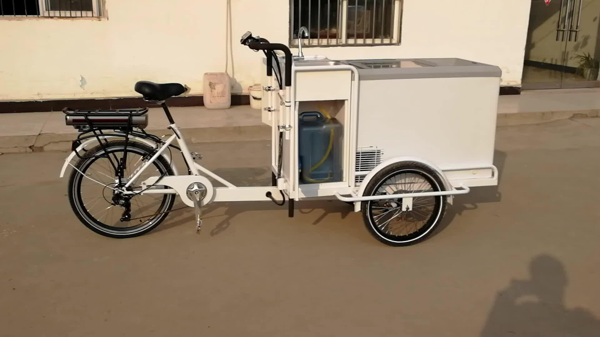 Mobiele italiaanse elektrische mexicaanse ijs winkelwagen produceert voor koop met wielen