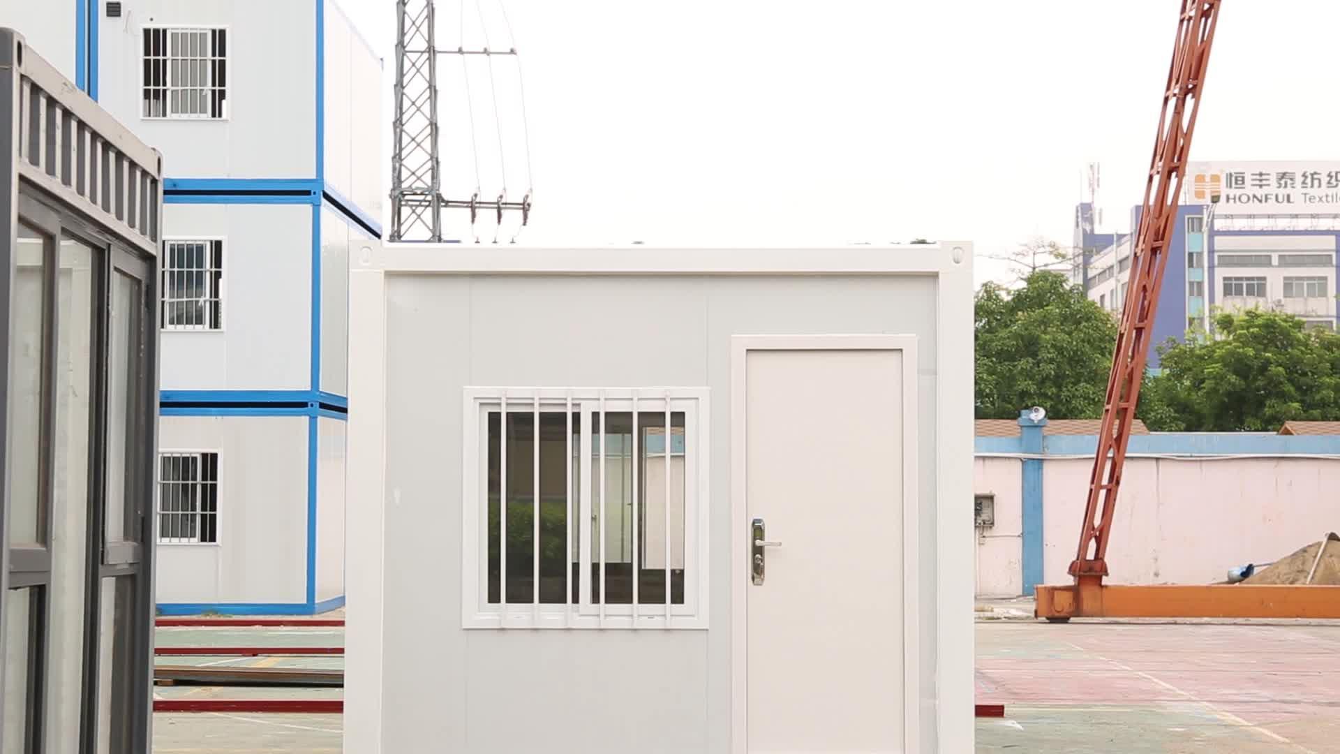 नई फ्लैट पैक मोबाइल घर 20ft 40ft में रहने वाले चल फ्लैट पैक कंटेनर घर