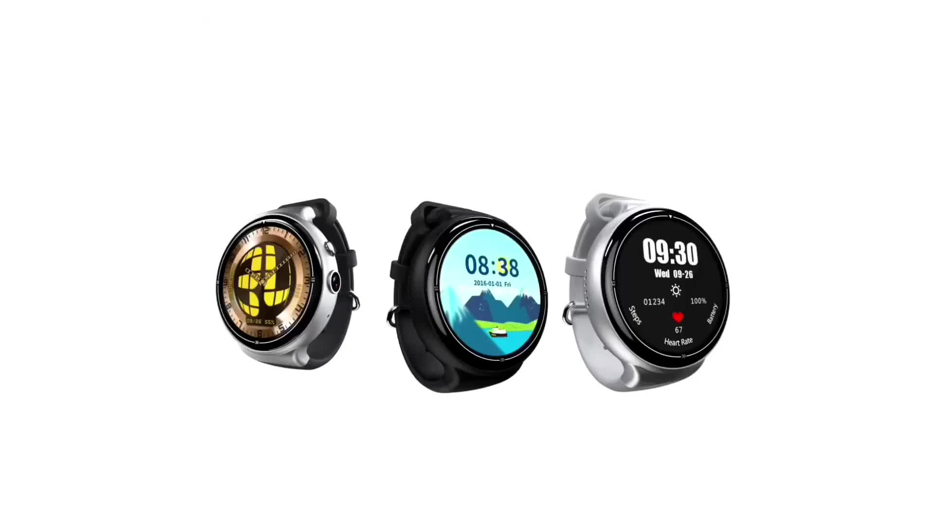 Factory Supply Oem Bluetooth Smart Watch Phone Android Smart Watch with Touch Screen Camera GPS Tracker