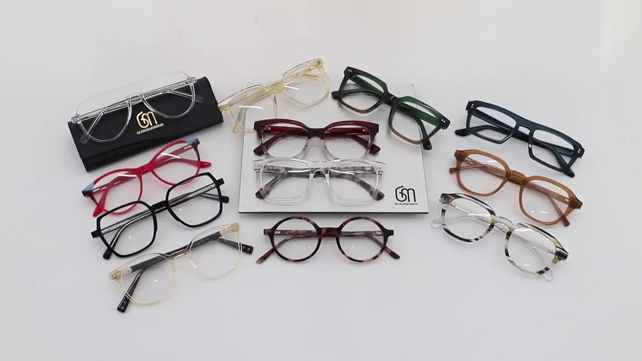 Fashionable italy designer acetate combine metal eyeglasses frams cat eye optical frames in stock thin spectacle eyewear