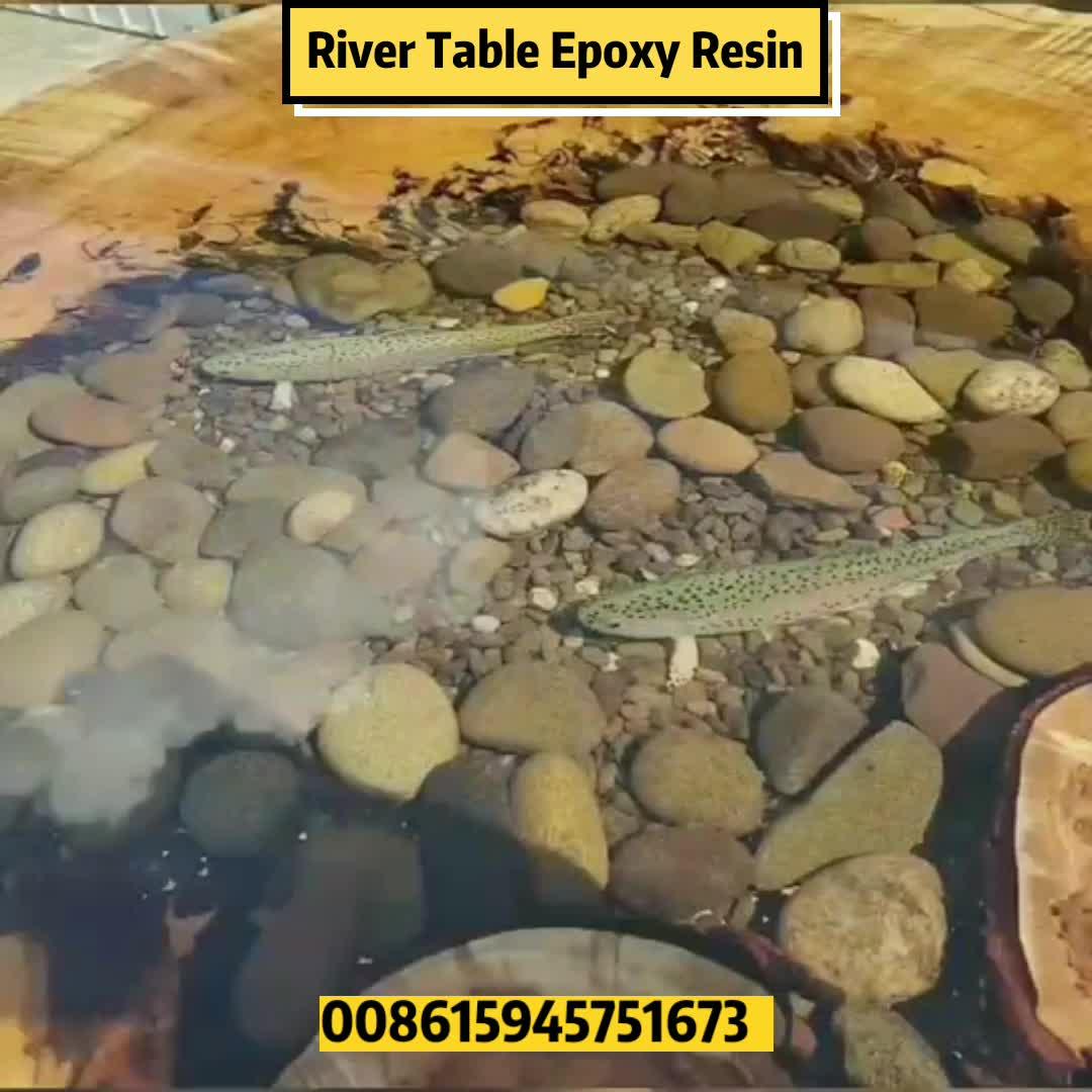 Mobiliário de arte mesa de rio de cristal cola epóxi ab cola móveis ab cola