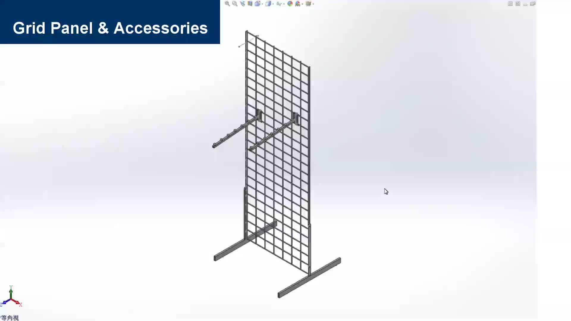 ลวดโลหะ ball ผู้ถือจอแสดงผลสำหรับ slat grid panel