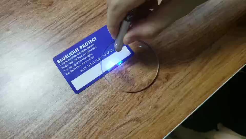 Blue light/ray block tester - Card only - 10*5cm can be customized.