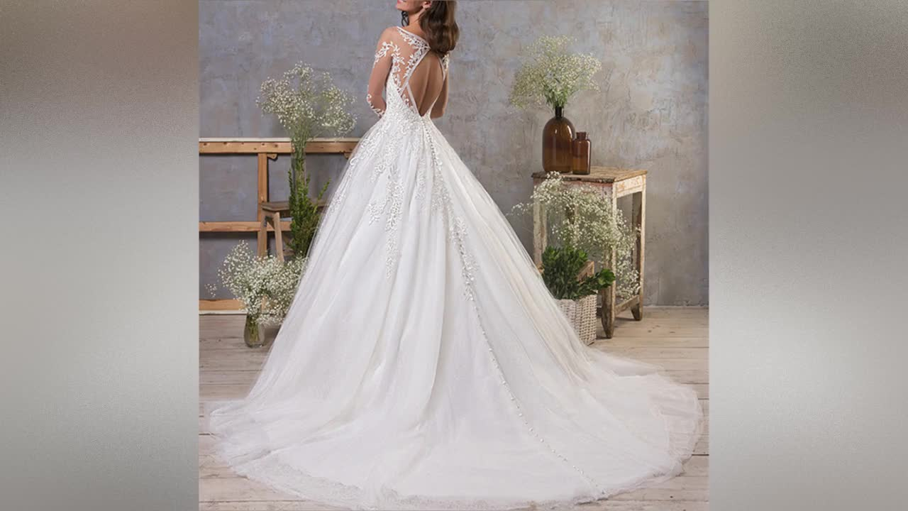 Ball Gown Wedding Dresses 2019 Long Sleeve Wedding Gowns Sexy Africa Bridal Gown Backless Lace Bridal Wedding Dress A179