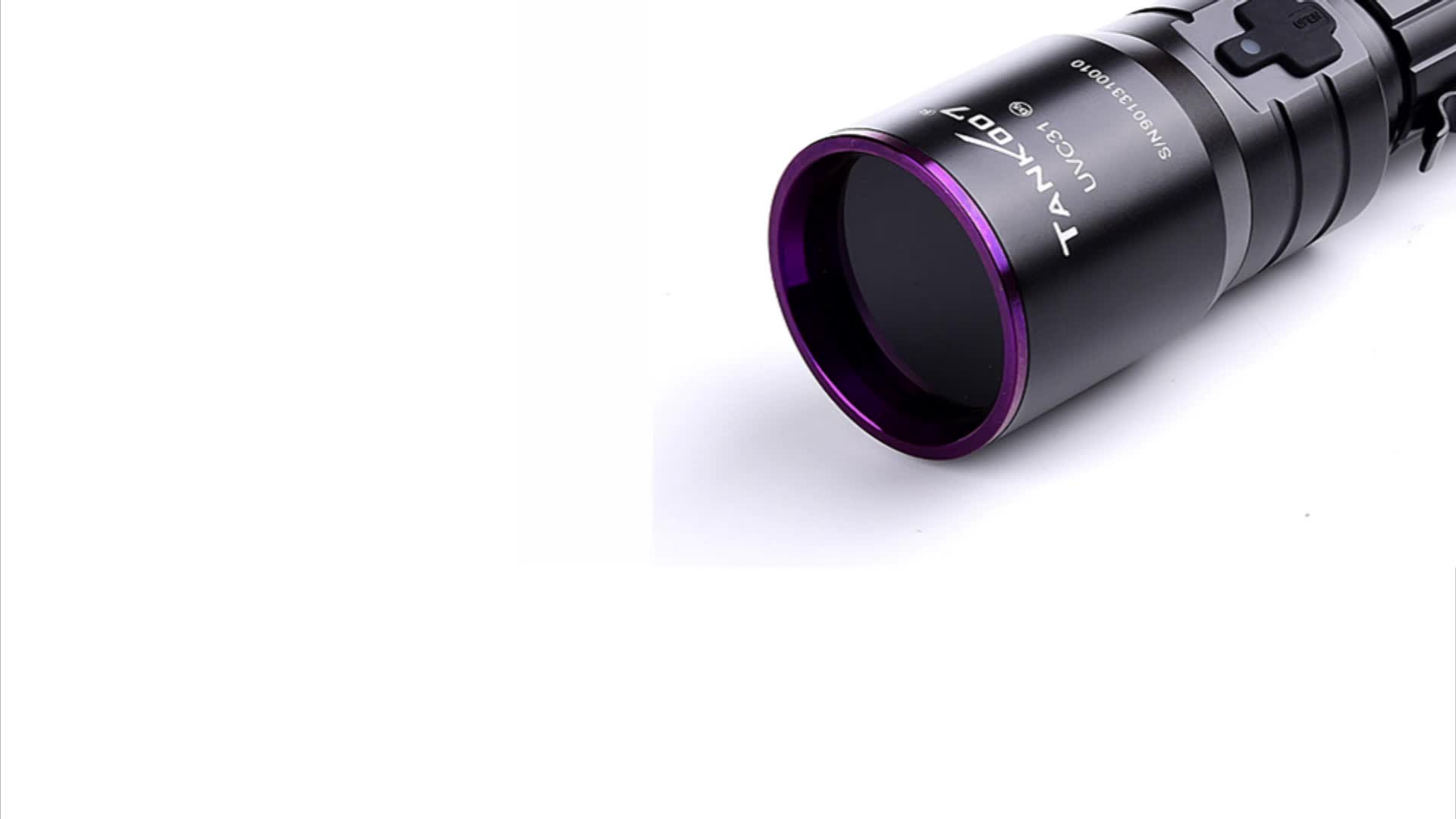 Tank007 high power USB NDT flashlight 365 nm blacklight rechargeable   flash light torch 365nm UV LED flashlights